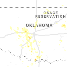 Regional Hail Map for Oklahoma City, OK - Monday, August 26, 2019
