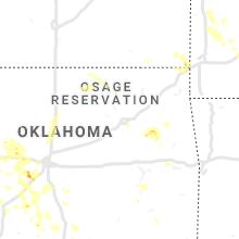 Regional Hail Map for Tulsa, OK - Monday, August 26, 2019
