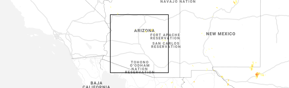 Map Of Young Arizona.Hail Map For Phoenix Az Tuesday August 27 2019