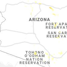 Regional Hail Map for Phoenix, AZ - Wednesday, August 28, 2019