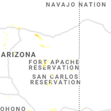 Regional Hail Map for Show Low, AZ - Wednesday, August 28, 2019