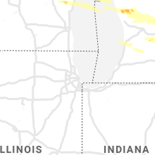 Regional Hail Map for Chicago, IL - Thursday, August 29, 2019