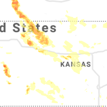 Regional Hail Map for Hays, KS - Thursday, August 29, 2019
