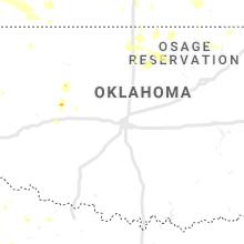 Regional Hail Map for Oklahoma City, OK - Thursday, August 29, 2019