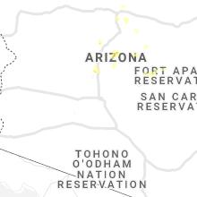 Regional Hail Map for Phoenix, AZ - Thursday, August 29, 2019
