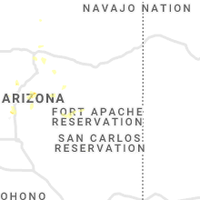 Regional Hail Map for Show Low, AZ - Thursday, August 29, 2019