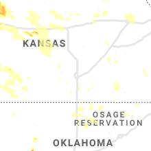 Regional Hail Map for Wichita, KS - Thursday, August 29, 2019