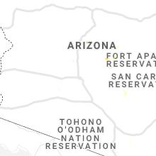 Regional Hail Map for Phoenix, AZ - Friday, August 30, 2019