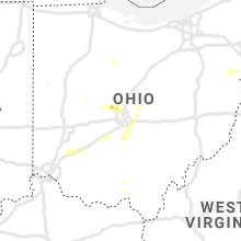 Regional Hail Map for Columbus, OH - Sunday, September 1, 2019
