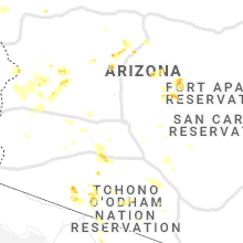 Regional Hail Map for Phoenix, AZ - Sunday, September 1, 2019