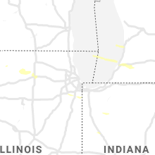 Regional Hail Map for Chicago, IL - Tuesday, September 3, 2019