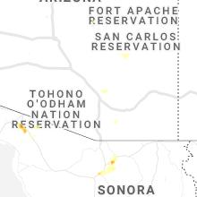 Regional Hail Map for Tucson, AZ - Tuesday, September 3, 2019