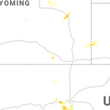 Regional Hail Map for Laramie, WY - Friday, September 6, 2019