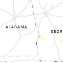 Regional Hail Map for Auburn, AL - Monday, September 9, 2019