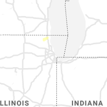 Regional Hail Map for Chicago, IL - Monday, September 9, 2019