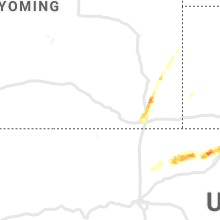 Regional Hail Map for Laramie, WY - Monday, September 9, 2019
