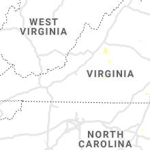 Regional Hail Map for Roanoke, VA - Monday, September 9, 2019