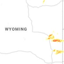 Regional Hail Map for Casper, WY - Tuesday, September 10, 2019