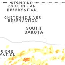 Regional Hail Map for Pierre, SD - Tuesday, September 10, 2019