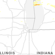 Regional Hail Map for Chicago, IL - Wednesday, September 11, 2019