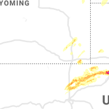 Regional Hail Map for Laramie, WY - Wednesday, September 11, 2019