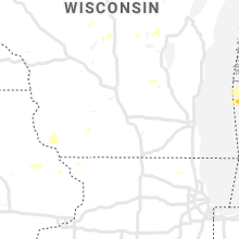 Regional Hail Map for Madison, WI - Wednesday, September 11, 2019