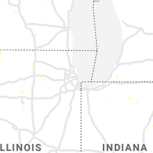 Regional Hail Map for Chicago, IL - Thursday, September 12, 2019