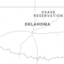Regional Hail Map for Oklahoma City, OK - Thursday, September 12, 2019
