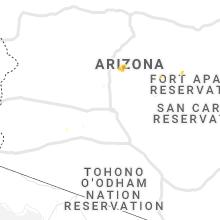 Regional Hail Map for Phoenix, AZ - Saturday, September 14, 2019