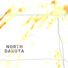 Regional Hail Map for Devils Lake, ND - Friday, September 20, 2019