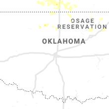 Regional Hail Map for Oklahoma City, OK - Wednesday, September 25, 2019