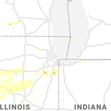 Regional Hail Map for Chicago, IL - Friday, September 27, 2019