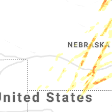 Regional Hail Map for North Platte, NE - Monday, September 30, 2019