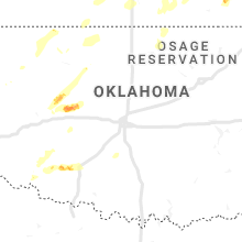 Regional Hail Map for Oklahoma City, OK - Wednesday, October 9, 2019