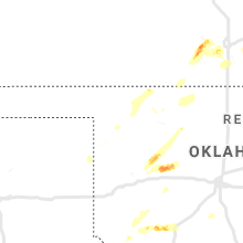 Regional Hail Map for Woodward, OK - Wednesday, October 9, 2019