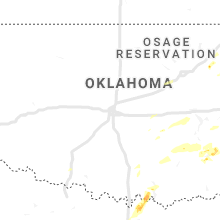 Regional Hail Map for Oklahoma City, OK - Thursday, October 10, 2019