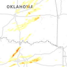Regional Hail Map for Atoka, OK - Sunday, October 20, 2019