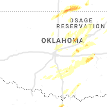 Regional Hail Map for Oklahoma City, OK - Sunday, October 20, 2019