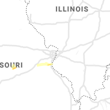 Hail Map for saint-louis-mo 2019-11-29