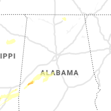 Regional Hail Map for Birmingham, AL - Monday, December 16, 2019