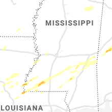 Regional Hail Map for Jackson, MS - Monday, December 16, 2019