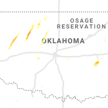 Regional Hail Map for Oklahoma City, OK - Friday, January 10, 2020
