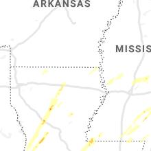 Hail Map for bastrop-la 2020-02-05