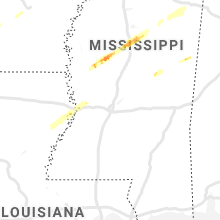 Regional Hail Map for Jackson, MS - Sunday, February 9, 2020