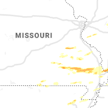 Regional Hail Map for Salem, MO - Monday, March 2, 2020