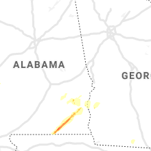 Regional Hail Map for Auburn, AL - Wednesday, March 4, 2020