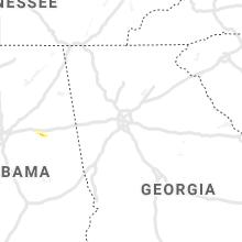 Regional Hail Map for Atlanta, GA - Wednesday, March 11, 2020