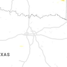 Regional Hail Map for Dallas, TX - Thursday, March 12, 2020