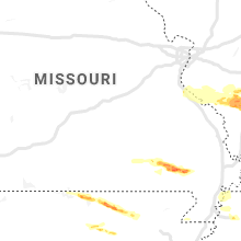Regional Hail Map for Salem, MO - Thursday, March 12, 2020