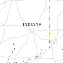 Regional Hail Map for Indianapolis, IN - Thursday, March 19, 2020